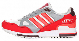 Кроссовки Adidas ZX 750 Coral/White/Grey