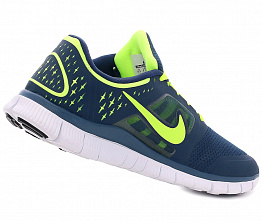 Кроссовки Nike Free Run +3 5.0 Dark Blue/Lime