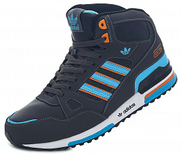 Кроссовки Adidas ZX 750 Tall Dark Grey / Blue