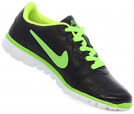 Кроссовки Nike Free Run 3.0 Leather Black/Lime