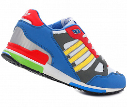 Кроссовки Adidas ZX 750 Leather Blue/White/Multi Color