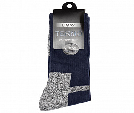 Термоноски Limax Termo 3D Dark Blue / Gray (сине-серые)