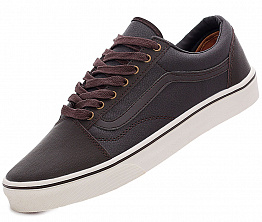 Кеды Vans Off The Wall Leather Brown