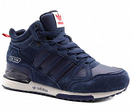 Кроссовки Adidas ZX 750 Tall Leather / Suede Dark Blue