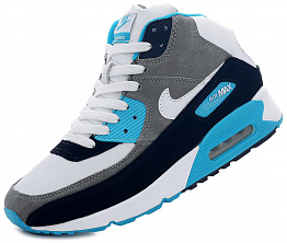 Кроссовки Nike AIR MAX 90 Tall Leather / Suede White / Blue