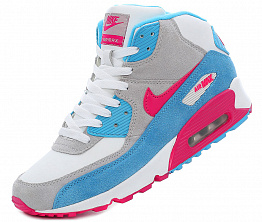 Кроссовки Nike Air Max 90 Tall White/Blue/Pink