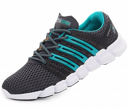 Кроссовки Adidas Crazy Cool Grey/Turquoise/White