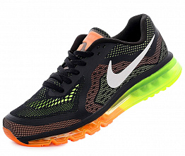Кроссовки Nike Air Max 2014 Black/Orange/Electric Green