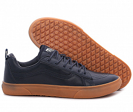 Кеды Vans Off The Wall Leather Dark Blue