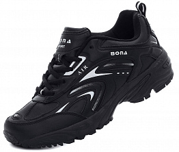 Кроссовки Bona Air 749 Leather Black
