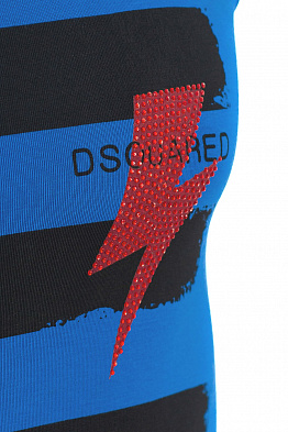 Майка спортивная Dsquared 958 Dark Blue/Red