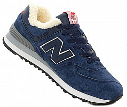Кроссовки NBseries 574 Suede / Wool Dark Blue