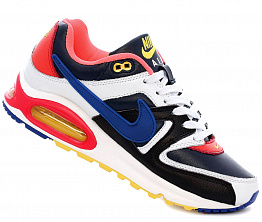 Кроссовки Nike Air Max 90 Leather Black/Coral/Blue