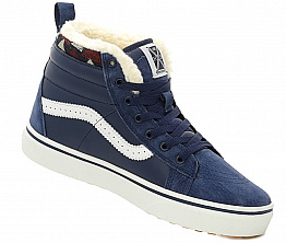 Кеды Vans Old Skool High Unisex Dark Blue